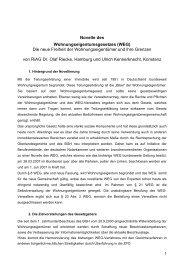 Novelle des Wohnungseigentumsgesetzes (WEG) Die neue ... - Bvi