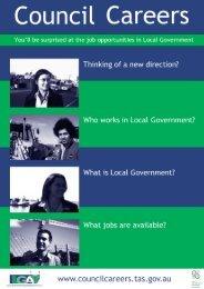 CouncilCareers Kit (pdf) - Local Government Association of Tasmania