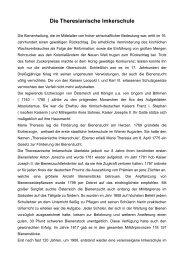 Die Theresianische Imkerschule - Bienenzuchtverein Sulzbach ...