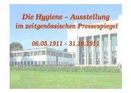 Die Hygiene – Ausstellung - BSZ- Gesundheit.de