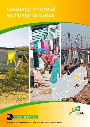 Gauteng: Informal settlements status - Housing Development Agency