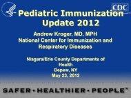 Pediatric Immunization Update 2012 - Erie County