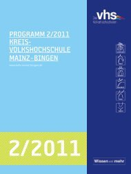 Download Programm 2011/2 - VHS Manager