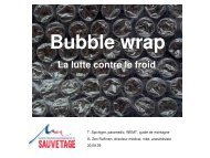 Bubble wrap 7 min - Secours-montagne.fr