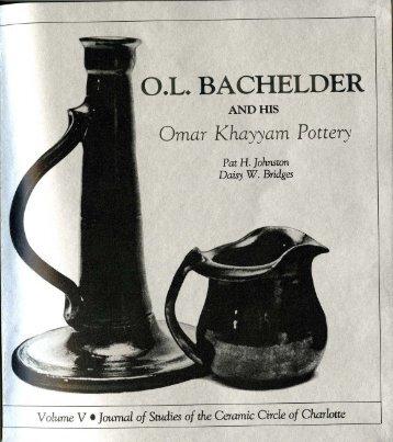 O.L. Bachelder and his Omar Khayyam Pottery - Mint Museum