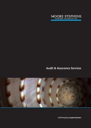 audit and assurance - Moore Stephens