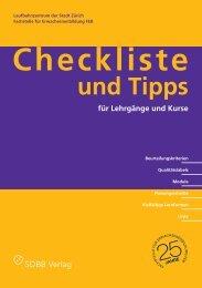 Checkliste - Stadt Zürich