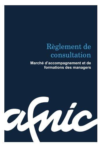 Article 2. Composition du dossier de consultation - Afnic
