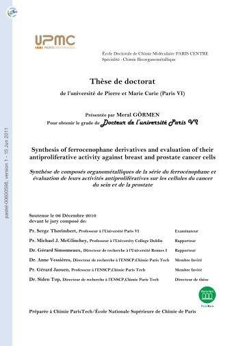 [pastel-00600598, v1] Synthèse de composés ... - Chimie ParisTech
