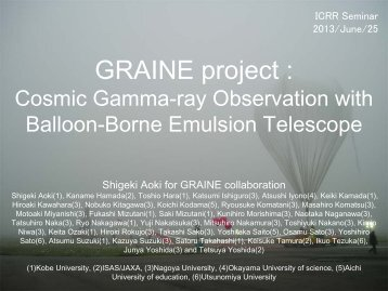 GRAINE project :