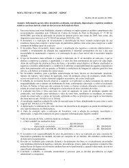 NOTA TÉCNICA Nº 002 / 2006 - Sefa - Governo do Estado do Pará