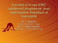Cas clinique IRC diabetique ou vascularite - Service de néphrologie ...