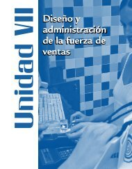 Diseño y administración de la fuerza de ventas Diseño y ...