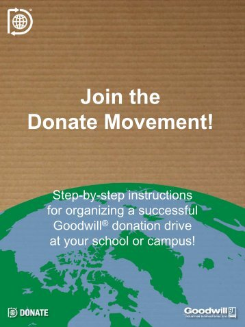 Organize a Donation Drive - The Donate Movement – Powered by ...