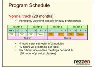 Program Teaching Schedule - Rezzen