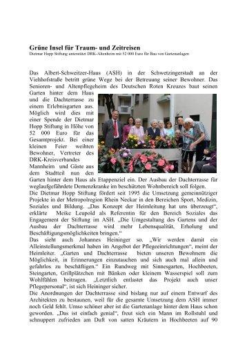 Grüne Insel für Traum- und Zeitreisen - DRK-Kreisverband ...