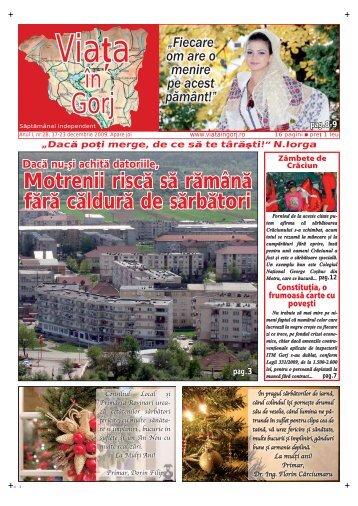 Viaļa în Gorj • joi, 17-23 decembrie 2009 • 3 - Viata in Gorj