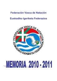 Memoria 2005-2006 - Federación Vasca de Natación.