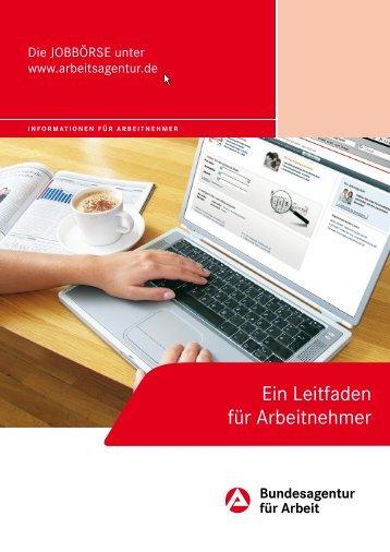 Die JOBBÖRSE – Ein Leitfaden für Arbeitnehmer - Bundesagentur ...