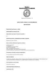 Consulter l'avis rectificatif pour le marché 13DCE01 - Franconville