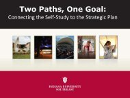 Two Paths, One Goal: - Indiana University Southeast