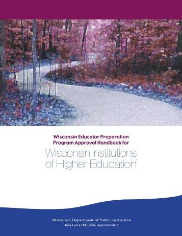 Program Approval Handbook for Wisconsin IHE Programs - Teacher ...