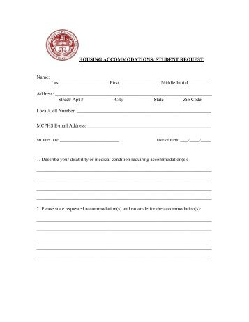 Student Request For Religious Accommodation Form  Hillsborough