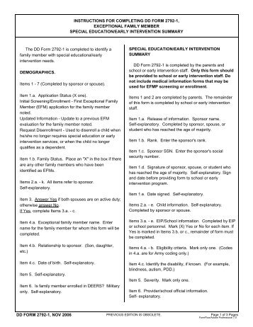 exceptional family member program information sheet da form 5863 ...