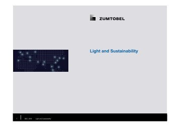 Light and Sustainability