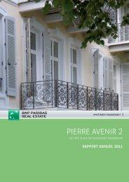 Rapport annuel - Pierre Avenir 2 - 2011 - BNP Paribas REIM