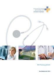 Qualitätsbericht 2010 - Kreiskrankenhaus Freiberg