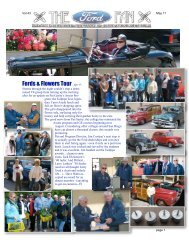 Fords & Flowers Tour Apr 9 - - Early Ford V-8 Club of California