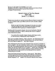 Daniel's Vision of The Four Beasts PART ONE Daniel 7:1-14 (NKJV)