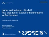 Løber solidariteten i blodet? - Institut for Statskundskab - Aarhus ...