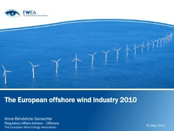 The European offshore wind industry 2010 - POWER cluster