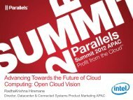 Intel Open Cloud Vision Gold - Parallels
