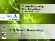[2.2] Stream Reasoning