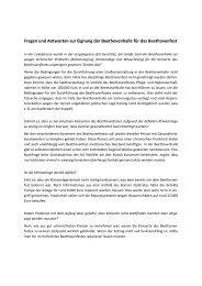 Fragen und Antworten zur Eignung der Beethovenhalle für das ...