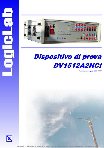 LogicLab s.r.l – Via della valle 67 – 20048 Carate Brianza (MI) – Tel ...