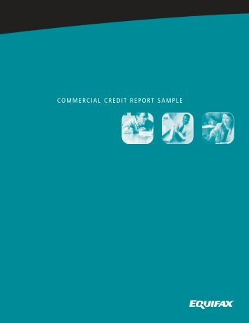 commercial credit report sample - Wisconsin Credit Association