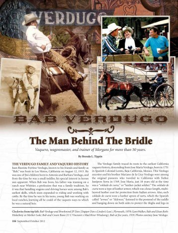 Bab Verdugo - American Morgan Horse Association