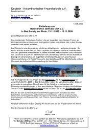 Einladung Bad Breisig - Deutsch-Kolumbianischer Freundeskreis eV