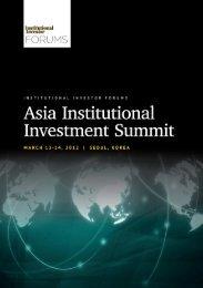 Asia Institutional Investment Summit - iiforums.com