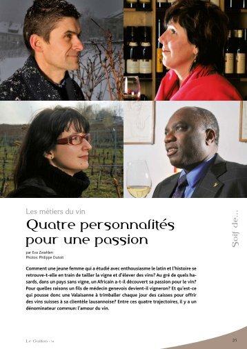 Quatre personnalités pour une passion - STLDESIGN