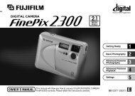 FinePix 2300 Manual - Fujifilm Canada
