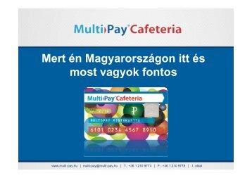 Multi-Pay ® Cafeteria kártya bemutató prezentáció
