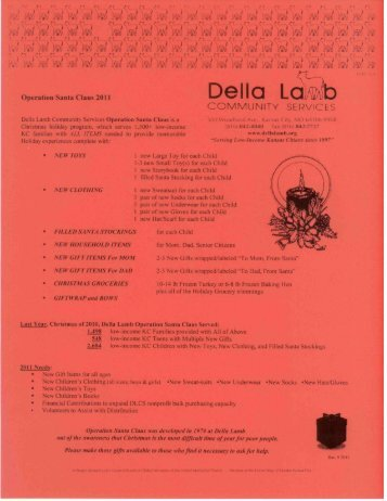 Operation Santa Claus PDF - Della Lamb Community Services