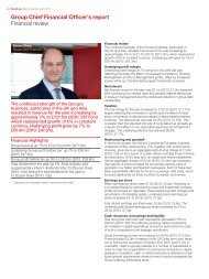 Group Chief Financial Officer's report Financial review - Savills