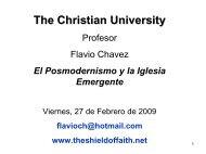 El Posmodernismo y la Iglesia Emergente, de Flavio Chavez