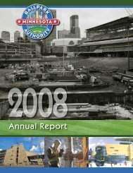 2008 Annual Report - the Minnesota Ballpark Authority